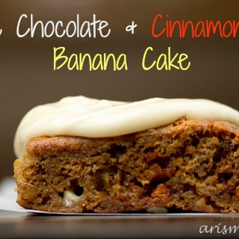 White Chocolate & Cinnamon Chip Banana Cake