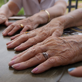 by Maya Farebrother - People Body Parts ( hands, fingers, silver, age, rings, gold )