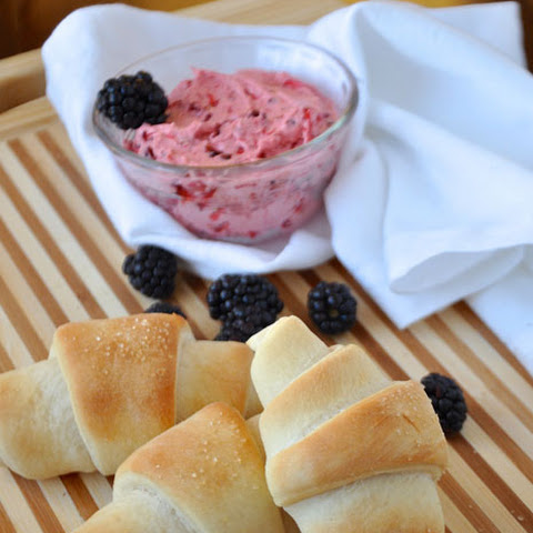 Perfect Crescent Freezer Rolls Tutorial With Whipped Berry Butter
