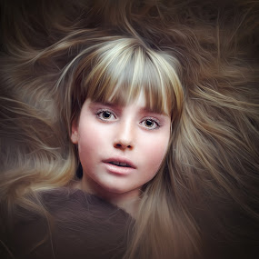 Angel by Alexandru Tache - People Portraits of Women ( angel, love, sweet, details, romania, oil art, spring )