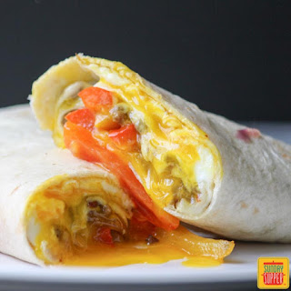 Philly Cheesesteak Breakfast Wrap #SundaySupper