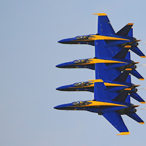 Blue Angels by Shixing Wen - Transportation Airplanes ( virginia beac, f-18 super hornet, virginia, nas oceana airshow, airshow, blue angels )