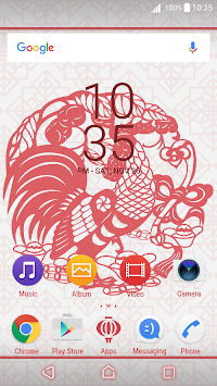 Chinese Rooster For Xperia™ APK screenshot thumbnail 1