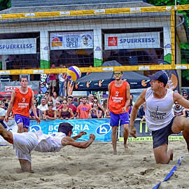 Diving Save by Marco Bertamé - Sports & Fitness Other Sports ( sand, ball, save, beach volley, dive, summer, lbo, beach, men, net, luxembourg )