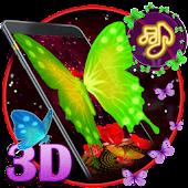 3d neon butterfly theme APK for Blackberry