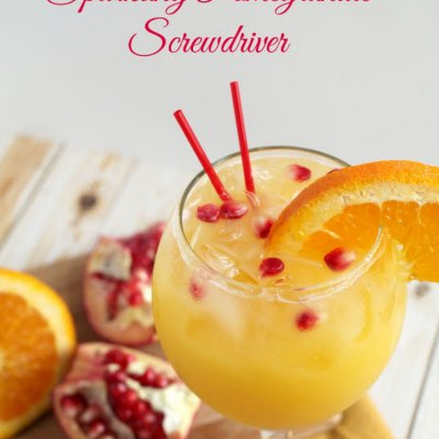 Sparkling Pomegranate Screwdriver