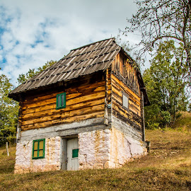by Mario Horvat - Buildings & Architecture Homes ( clouds, srbija, ethnic, old, sky, mokra gora, serbia, drvengrad, house )