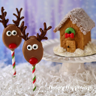 Honey Maid and Skippy Reindeer Pops and Graham Cracker Houses