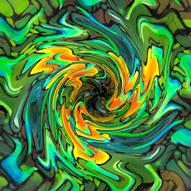 a riot of colour by Vibeke Friis - Digital Art Abstract ( colour,  )