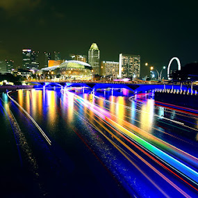 River of Light by Alit  Apriyana - City,  Street & Park  Vistas