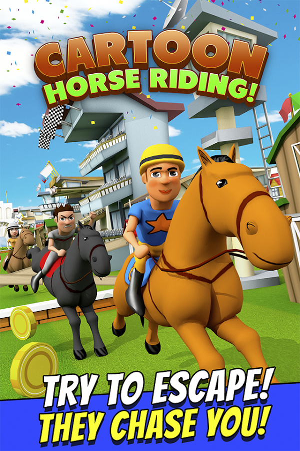 Cartoon Horse Riding Game Free Screenshot 0