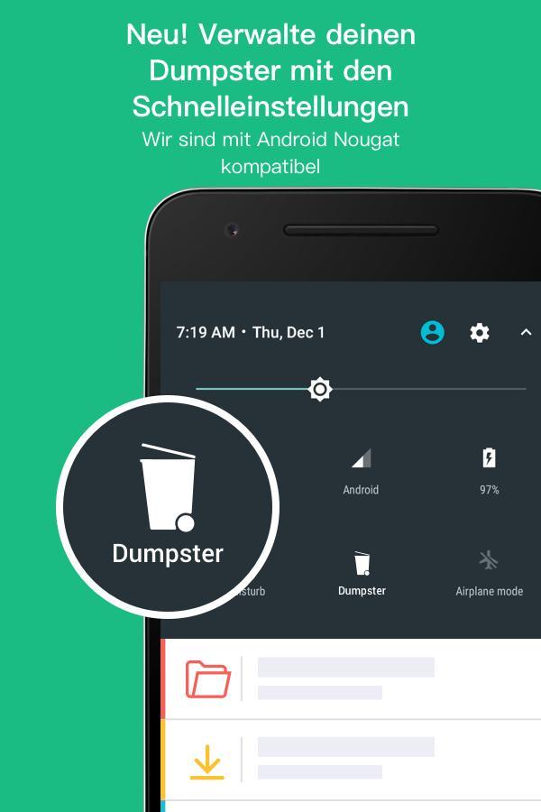 Dumpster Papierkorb – Screenshot
