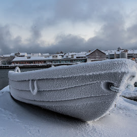 Frost by Eik Kristensen - Transportation Boats ( winter, cold, snow, frost, norway )