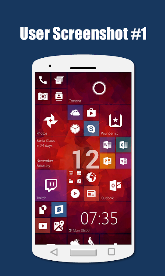 SquareHome 2 - Launcher: Windows style Screenshot 5