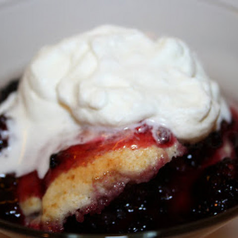 Iron Skillet Blackberry Dumpling Cobbler