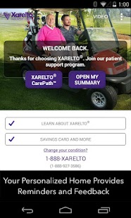 XARELTO® Patient Center - screenshot