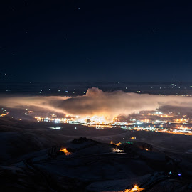 Lewiston at Night by Evan Jones - Landscapes Travel ( idaho, lewiston, industrial, night, industry, usa )