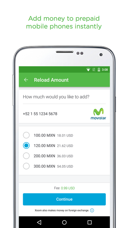 Xoom Money Transfer Screenshot 2