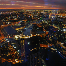 On The Edge by Travis Pambu - City,  Street & Park  Skylines ( december 2010, melbourne, the edge, australia,  )