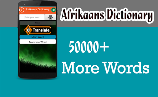 Afrikaans-English Dictionary, Glosbe
