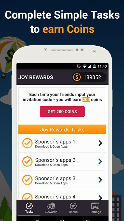 Joy Rewards - Free Gift Cards Screenshot 1