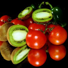 kiwi with tomatoes by LADOCKi Elvira - Food & Drink Fruits & Vegetables ( fruits )