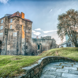 Black Gate by Adam Lang - City,  Street & Park  Historic Districts ( old, black gate, castle, newcastle, medieval )