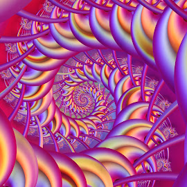 Spiral 10 by Cassy 67 - Illustration Abstract & Patterns ( love, abstract, bright, colorful, abstract art, wallpaper, harmony, fractalart, fractal, light, fractals, energy )