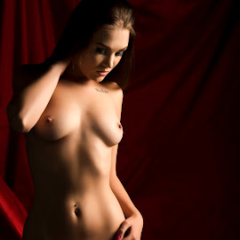 Behind the Red curtain by Peter Driessel - Nudes & Boudoir Artistic Nude
