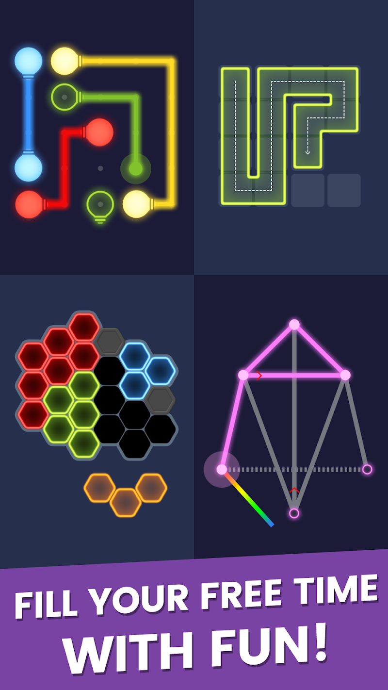 Puzzle Glow : Brain Puzzle Game Collection Screenshot 17