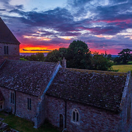 The church... by Dimitar Lazarov - Buildings & Architecture Public & Historical ( history, england, hereford, church, sunset )