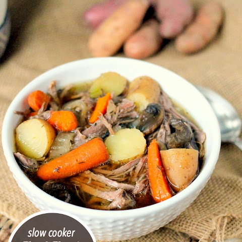 Slow Cooker Beef Brisket & Vegetable Soup