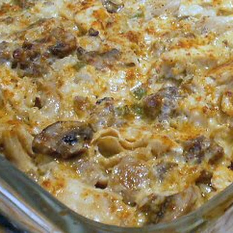 MUSHROOM CHICKEN AND SAUSAGE CASSEROLE