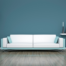 room and sofa by Markus Gann - Illustration Products & Objects ( nobody, interior, home, decorative, residential, bright, illustration, apartment, house, architecture, space, parquet, modern, real, sofa, style, lifestyle, grey, plain, leather, light, copy, books, blank, minimalism, white, table, living, rendering, luxury, new, cosy, wooden, copy-space, couch, floor, 3d, blue, contemporary, background, brown, design, wall, estate, room )