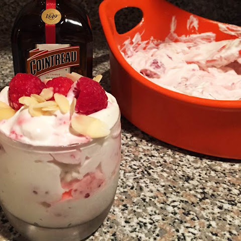 Spiked Raspberries and Whipped Cream