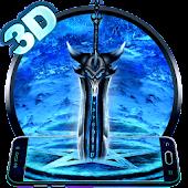 3D Ice Dragon Sword Theme APK for Bluestacks