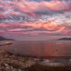 Sunset at Chapala by Cristobal Garciaferro Rubio - Landscapes Cloud Formations ( clouds, chapala, lagoon, mexico, lake )