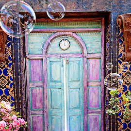 Door of dreams by Lana Nolte - Artistic Objects Furniture ( fantasy, mystery, dreams, bubbles, door, light )