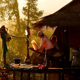 Home Life by William Allinson - People Family ( home, laos, life, village, northern laos,  )