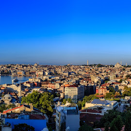 Good Morning Istanbul by Fares Ghneim - City,  Street & Park  Skylines ( golden horn, sunshine, cityscape, turkey, istanbul, morning, panorama )