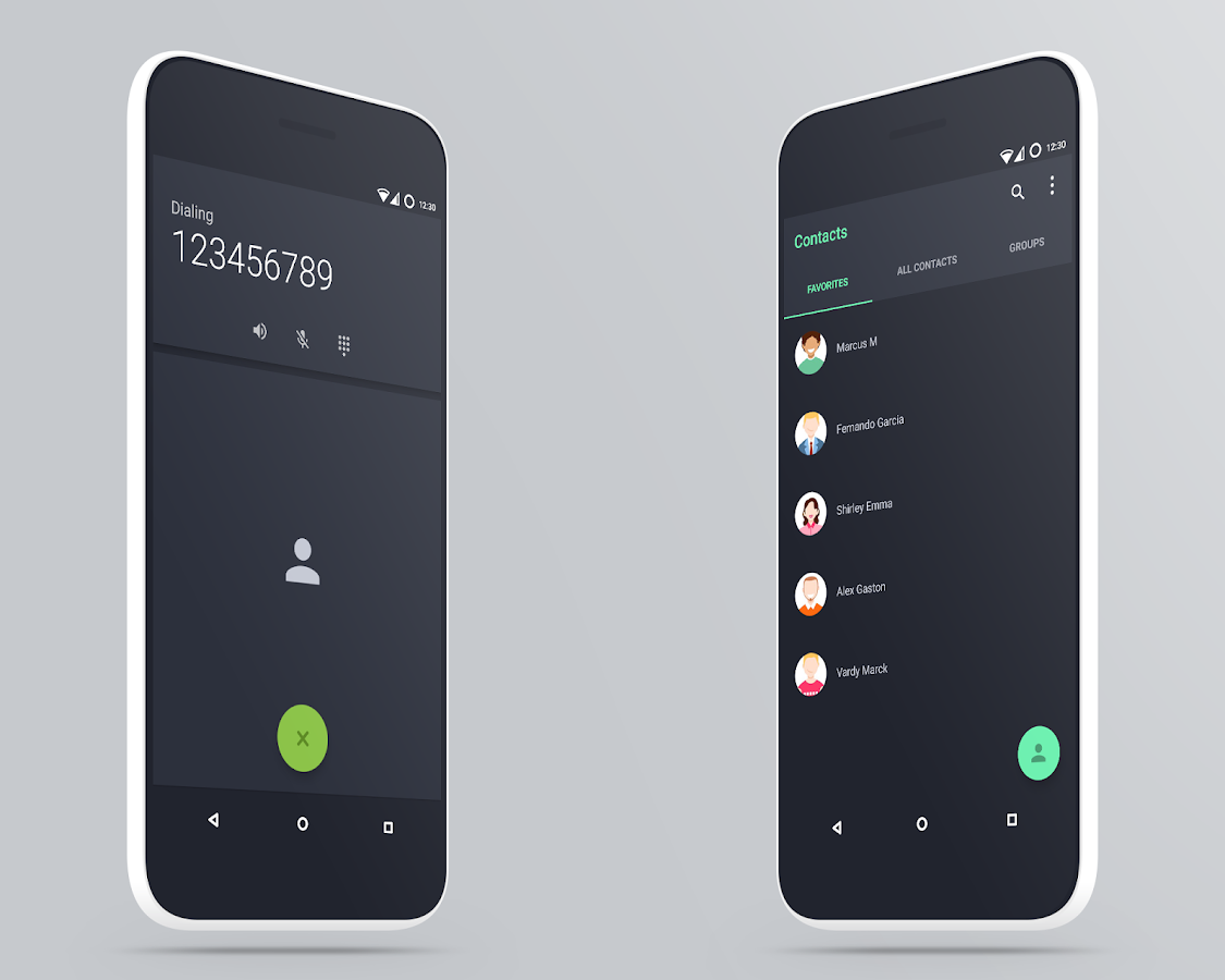 MaterialUp theme Dark! CM12 13 Screenshot 5