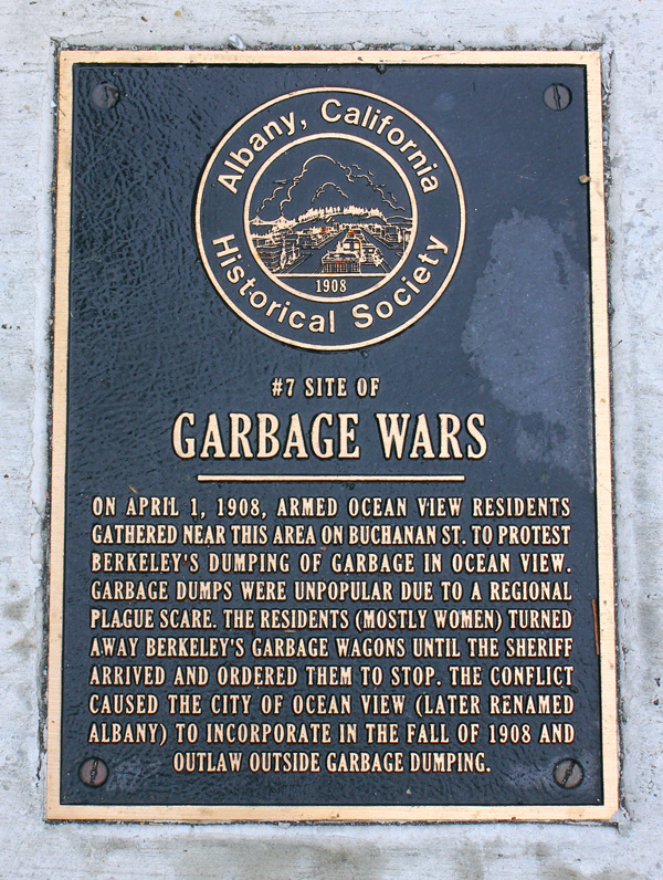 In 1908, residents of West Berkeley took up arms to stop garbage wagons from dumping trash in their backyards. After a showdown, Berkeley relented, and the neighborhood of Ocean View seceded and ...