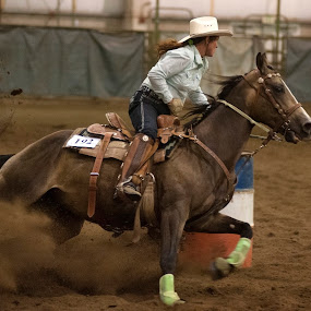 Barrel Racer by Kelvin Watkins - Sports & Fitness Other Sports ( speed, horse, barrel, dirt, consintration. )