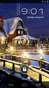 White Christmas Live Wallpaper - screenshot