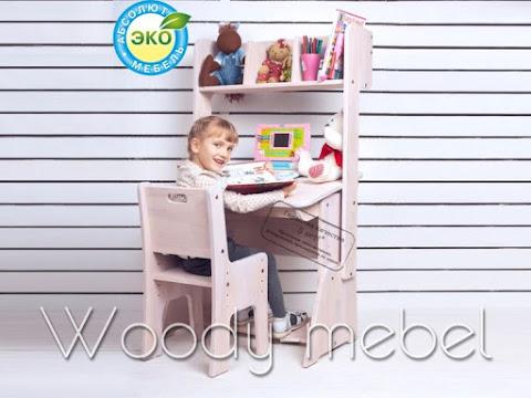 Детская мебель: парта с пеналом надстройкой и стулом (Школярик1)