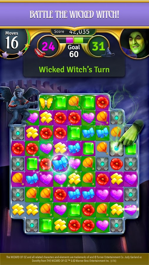 Wizard of Oz: Magic Match Screenshot 2