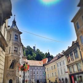 Ljubljana summer by Andreja Svenšek - City,  Street & Park  Historic Districts ( slovenia, street, old town, ljubljana, tilt shift, street photography )