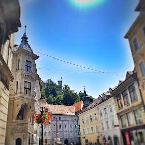 Ljubljana summer by Andreja Svenšek - City,  Street & Park  Historic Districts ( slovenia, street, old town, ljubljana, tilt shift, street photography,  )
