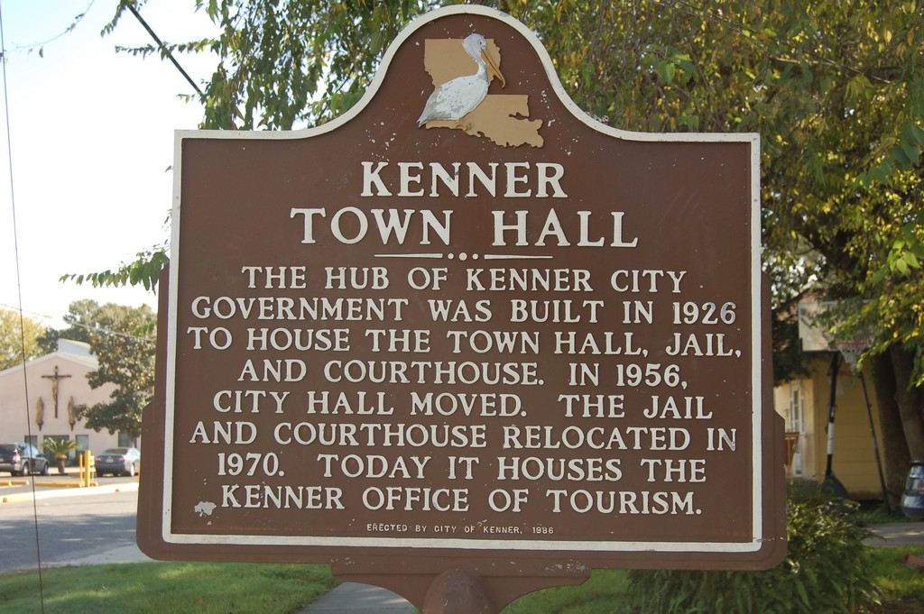 The hub of Kenner city government was built in 1926 to house the Town Hall, jail, and courthouse. In 1956, City Hall moved. The jail and courthouse relocated in 1970. Today it houses the Kenner ...