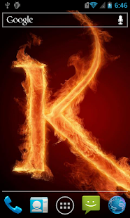 The fiery letter K Live WP - screenshot
